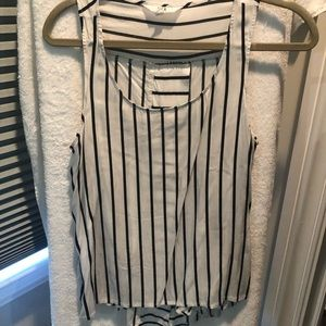 Jack Black and White Striped Size Medium Tank